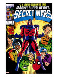 Secret Wars 2 Cover: Magneto  Hulk  Spider-Man  Thing  Iron Man and Thor