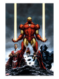 Iron Man 84 Cover: Iron Man  Falcon  Black Panther  Wasp  Ant-Man and Avengers