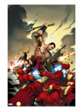 The Mighty Avengers 4 Cover: Ares and Iron Man
