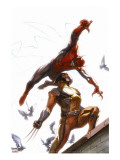 Secret Invasion 7 Cover: Spider-Man and Wolverine
