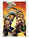 Incredible Hercules 113 Cover: Hercules and Ares