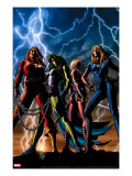She-Hulk 34 Cover: She-Hulk  Thundra  Valkyrie and Invisible Woman