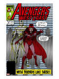 Avengers West Coast No47 Cover: Scarlet Witch and Vision