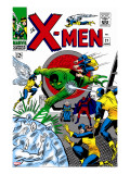 X-Men No21 Cover: Angel  Beast  Cyclops  Dominus  Iceman  Lucifer  Marvel Girl and Professor X