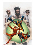 Powerless 6 Cover: Wolverine  Daredevil  Matt Murdock  Spider-Man  Peter Parker  Logan
