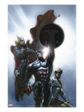 Secret Invasion 8 Cover: Captain America  Wolverine and Thor
