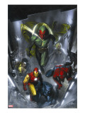 Secret Invasion 2 Cover: Vision  Iron Man  Spider-Man  Luke Cage and Beast