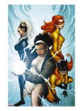 Marvel Divas 3 Cover: Photon  Hellcat  Black Cat and Firestar