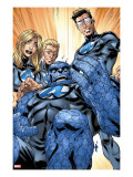 Ultimate Fantastic Four 41 Group: Human Torch  Mr Fantastic  Invisible Woman and Thing