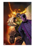 Fantastic Four: House Of M 3 Cover: Dr Doom  Magneto  Thing and Fearsome Four