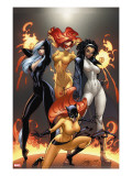 Marvel Divas 1 Cover: Hellcat  Black Cat  Captain Marvel and Firestar