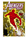 Avengers West Coast 50 Cover: Human Torch  Hammond and Jim
