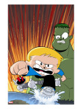 Franklin Richards: World Be Warned 1 Cover: Richards  Franklin  Hulk and HERBIE