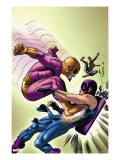 Marvel Adventures The Avengers 35 Cover: Batroc The Leaper  Hawkeye and Spider-Man
