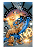 Marvel Adventures Fantastic Four 37 Cover: Thing  Mr Fantastic  Invisible Woman and Human Torch