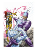X-Men: First Class 14 Cover: Machine Man  Iceman and Marvel Girl Fighting