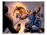 Dark Reign: Fantastic Four 4 Group: Invisible Woman  Thing  Mr Fantastic and Human Torch