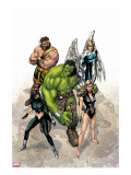 Incredible Hulk 109 Cover: Hulk  Namora  Hercules  Angel  Black and Carmilla