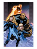 Ultimate Fantastic Four 60 Cover: Invisible Woman  Mr Fantastic  Thing and Human Torch