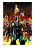 Thor 82 Cover: Thor  Sif  Balder  Volstagg  Fandrul  Hogun and Warriors Three