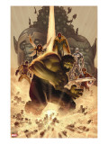 What if Wolrd War Hulk 1 Cover: Hulk  Giant Man  Wasp  Vision and Silver Surfer