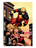 Captain Marvel 2 Cover: Captain Marvel and Ms Marvel
