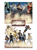 New X-Men 19 Group: Prodigy  Hellion  Mercury  Wind Dancer  Dust  New Mutants and Hellions