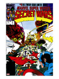 Secret Wars 9 Cover: Captain America  Iron Man  Thor  Hulk and Galactus