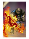 Ultimate Fantastic Four 41 Cover: Thing and Human Torch