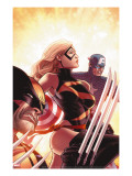 New Avengers 17 Cover: Ms Marvel  Captain America and Wolverine
