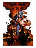 Captain America 1 Cover: Captain America  Nick Fury and Black Widow