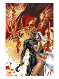 Black Panther 5 Cover: Black Panther and Storm