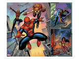Spider-Man Family 1 Cover: Spider-Girl  Spider-Man  Arana and Spider Woman Fighting
