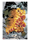 Marvel Age Fantastic Four 6 Cover: Thing and Human Torch Fighting