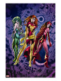 Fantastic Force 2 Cover: Phoenix  Scarlet Witch and Polaris