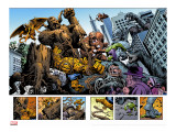 Marvel: Monsters On The Prowl 1 Group: Hulk  Thing  Groot  Fin Fang Foom and Grogg