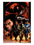 Ultimate Nightmare 1 Cover: Nick Fury  Captain America  Wolverine and Colossus