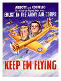 WWII Abbott and Costello Recruiting Poster