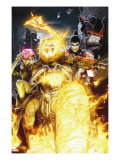 Timestorm 2009/2099 2 Cover: Ghost Rider  Punisher  Cerebra  Spider-Man and Human Torch