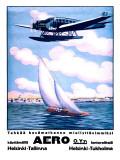Helsinki Aero Sailboat Poster
