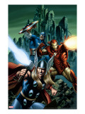 Thor 81 Cover: Thor  Iron Man and Captain America