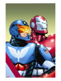 The Amazing Spider-Man 599 Cover: American Son and Iron Patriot