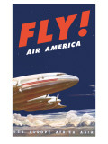 50&#39;s Fly Air America Constellation Poster