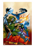 Fantastic Five 2 Cover: Dr Doom  Mr Fantastic  Invisible Woman and Lyja