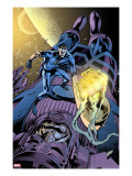 Fantastic Four 571 Cover: Mr Fantastic and Galactus