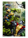 X-Men Vs Hulk No1 Cover: Wolverine  Colossus and Hulk