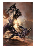 Dark Avengers 9 Cover: Ares and Nick Fury
