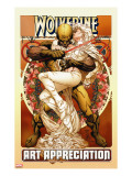 Wolverine Art Appreciation One-Shot Canvas Cover Cover: Wolverine and Emma Frost