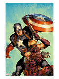 Ultimate Avengers No2 Cover: Hawkeye and Captain America