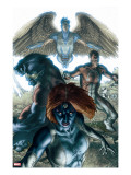 Dark X-Men 1 Cover: Mystique  Dark Beast and Omega